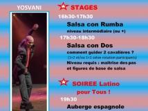 stage salsa cubaine et soirée latino