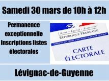 élections : permanence de la mairie samedi 30 mars