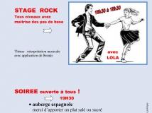 stage de rock + soirée dansante : samedi 15 décembre