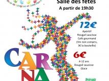 repas du carnaval : vendredi 29 mars